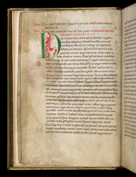 Decorated Initial, In A Volume Of Works By Paschasius Radbertus, Augustine, And Lanfranc